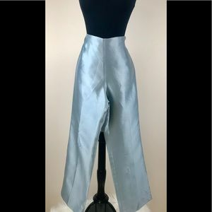 Talbots Petite silk pants size 8P seafoam green